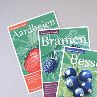 Special offer flyers for a biological supermarket