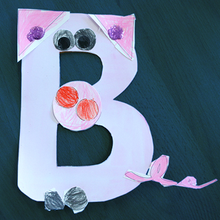 The capital letter B for the Dutch word biggetje